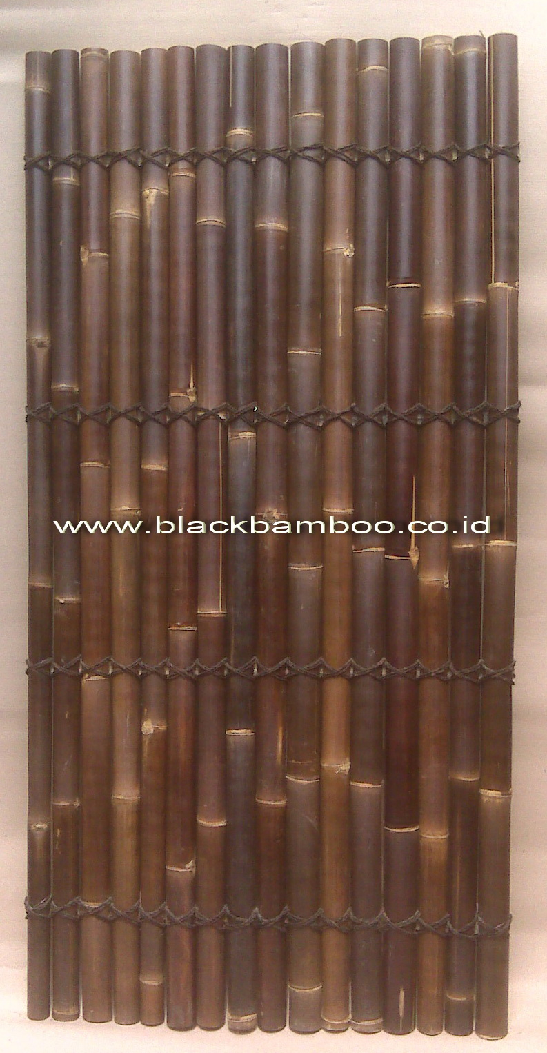 BLACK BAMBOO FENCE 200 X 100