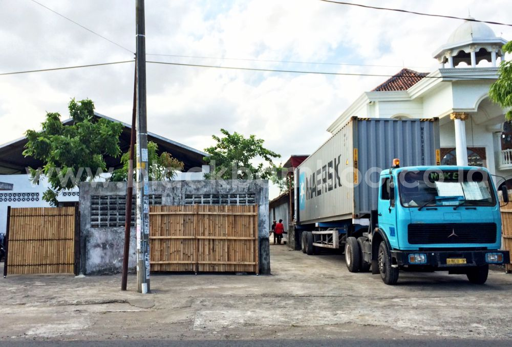 Container In Front Of The New Factory - Black Bamboo