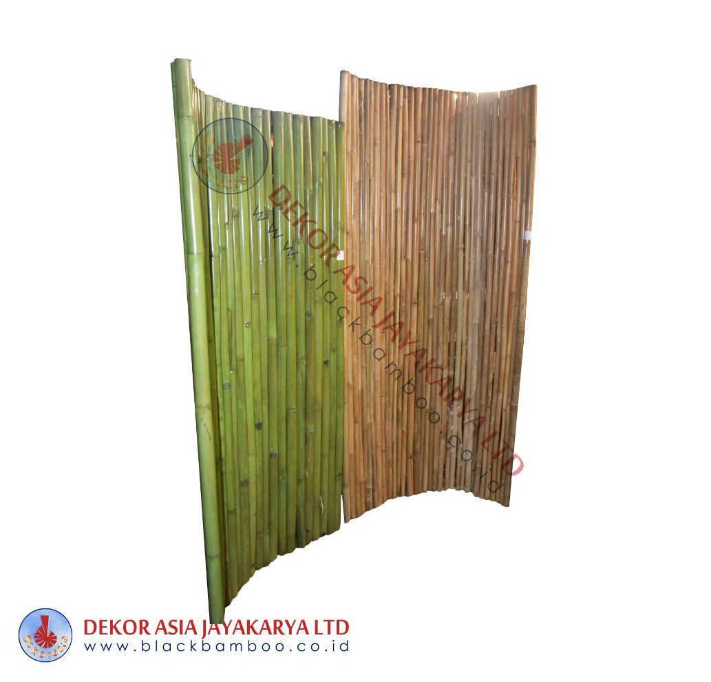 Bamboo Fence Green Natural Pole