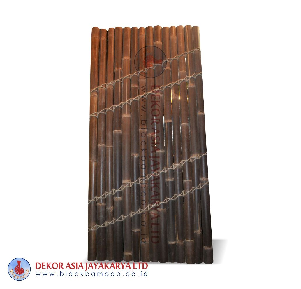 Half cut bamboo fence 4 slats coco rope