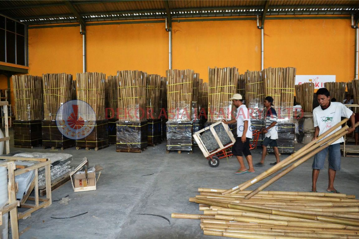WAREHOUSE AND BAMBOO POLES